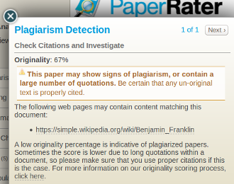 website to check if your paper is plagiarized Professors use plagiarism detection site to check students if the user has plagiarized, the questionable part of the paper will be highlighted.