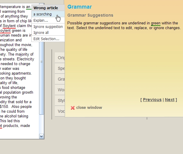 Grammar Check and Spelling Check   Grammarian Writers Software   writing tools and resources What makes you unique essay example
