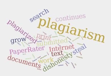 Plagiarism Check Word Cloud