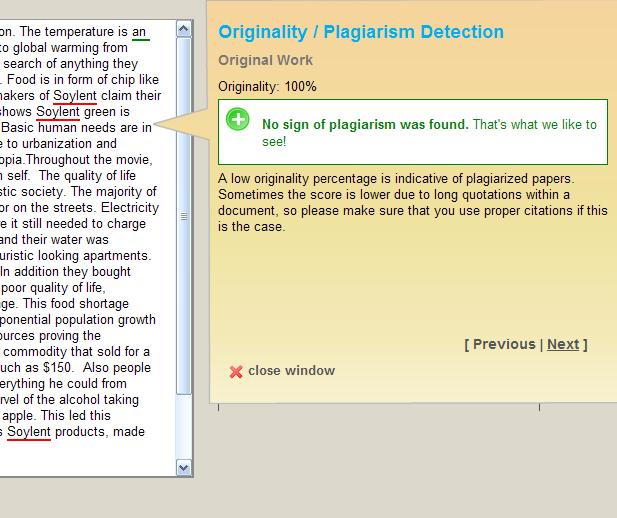 Free Online Proofreader  Grammar Check  Plagiarism Detection  and more Sample Test Preview